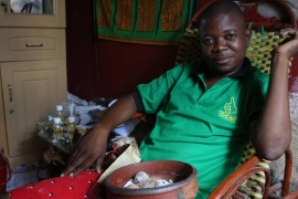 Witchdoctor Manyauyau said many of his clients are politicians [Hannah McNeish/Al Jazeera]