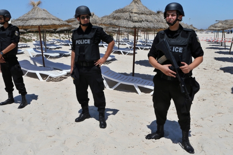 Tunisian forces are on high alert after last month's attack on a beach resort that killed 38 holidaymakers [EPA]