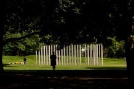 The 7/7 memorial in Hyde Park was erected in memory of the 52 victims of the London bombings [Matt Dunham/AP Photo]