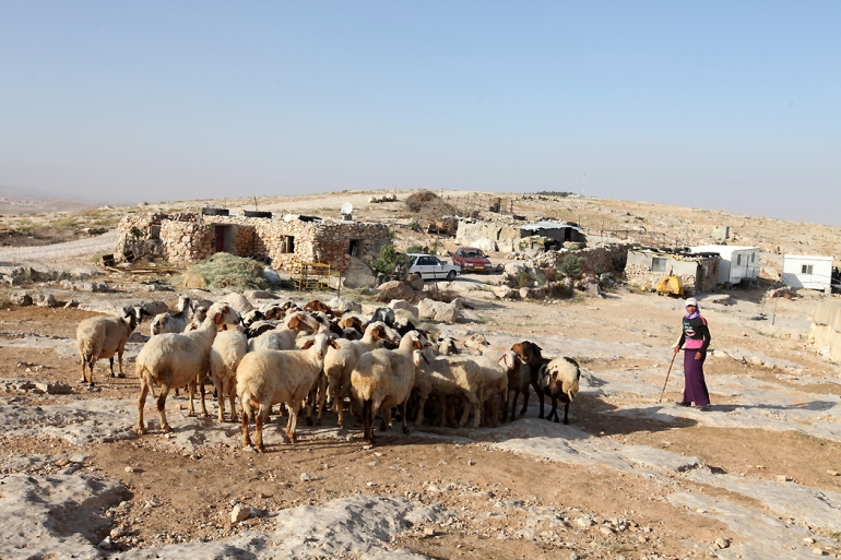 In the cave hamlets, residents rely on grain, olives, sheep and goats, and on the production of milk and cheese - just as their ancestors did for centuries. [Eloise Bollack/Al Jazeera]