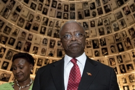 Former prime minister Amama Mbabazi has reportedly been detained by the police [EPA]