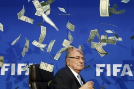 Blatter won his fifth term as FIFA president last May [Reuters]