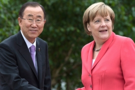 For campaigners demanding reform in the selection of the top UN diplomat, leaders like Angela Merkel show there is ample talent in the global pool of stateswomen [EPA]