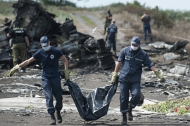 Ukraine has blamed Russian-backed separatist rebels for the disaster, while Moscow blames Ukraine [File: AP]