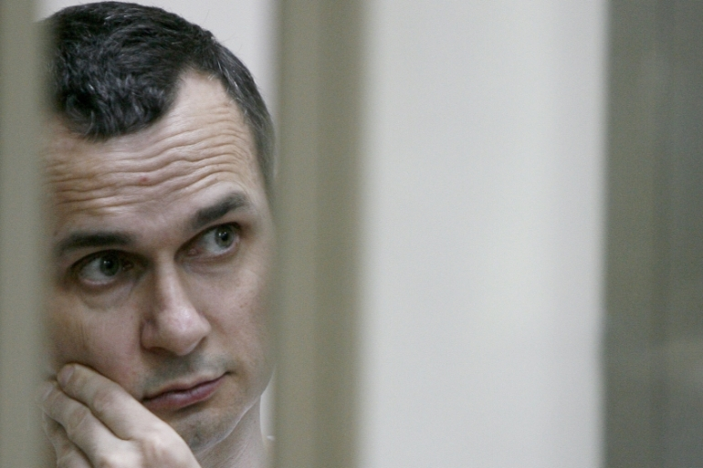 Sentsov, 39, faces up to 20 years if found guilty [Getty Images]