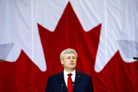 Harper has kicked off a 79-day campaign that will be one of the longest in Canadian history [Reuters]