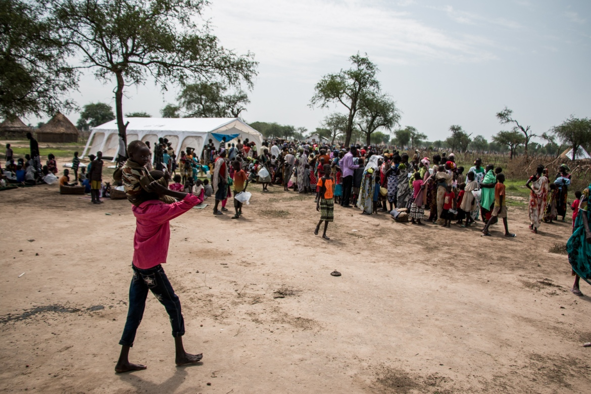 Tens of thousands of people are fleeing to Fangak from Unity and Jonglei states where military assaults against opposition-held areas have been ongoing since April. Fangak is opposition-controlled but remote and protected by miles of waterways [Ashley Hamer/Al Jazeera]