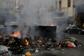 The stench of uncollected garbage has permeated the streets of Beirut, compounded as some residents have opted to burn the trash [Reuters]