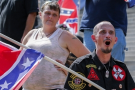 KKK's angry voices drowned out at S Carolina rally