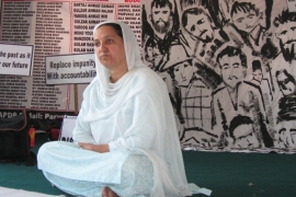 "Local rights activists like Parveena Ahanger says that the Indian military courts are ""unreliable"" and ""dishonest"" [Baba Umar/Al Jazeera]"