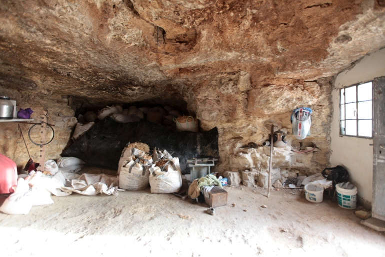 The caves provide comfortable housing and storage space in a region with hot summers and cold winters. [Eloise Bollack/Al Jazeera]