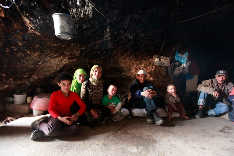 The caves are usually divided into three areas: a living area, a storage area and a cooking area, along with a place to keep livestock in winter. [Eloise Bollack/Al Jazeera]