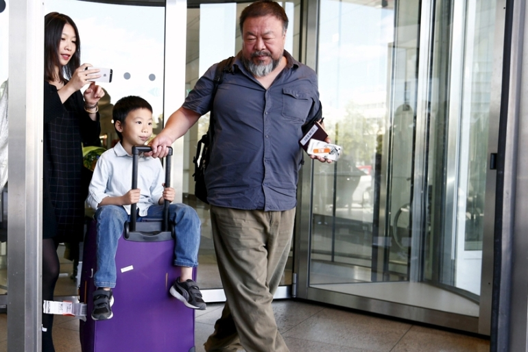 Ai Weiwei claims that his UK visa has been shortened on false grounds by the British Embassy of Beijing [Reuters]