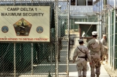 Court proceedings at Guantanamo have been halted by the pandemic and it is not clear when will they resume [File: Brennan Linsley/AP Photo]