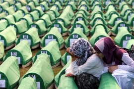 On July 11, 1995, Bosnian Serb forces entered Srebrenica and in the ensuing days killed 8,100 Bosnian Muslim men and boys. [EPA]