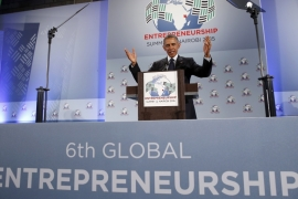 Obama pushed entrepreneurship to the top of the US' global engagement agenda, writes Moseley [Reuters]