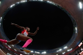 Ibarguen had been a high jumper before switching to triple jump [EPA]