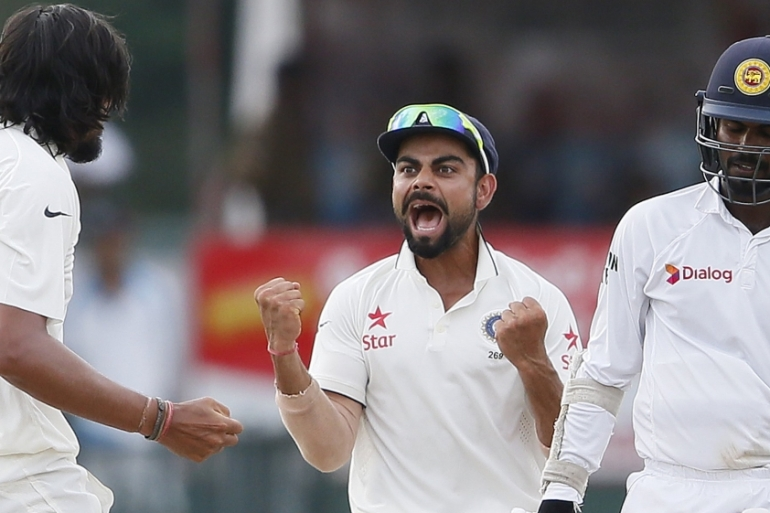 Kohli listed India's triumphs in the 2011 ODI World Cup and 2013 Champions Trophy as well as the team's maiden Test series victory in Australia under his captaincy two years ago as special moments. [Dinuka Liyanawatte/Reuters]