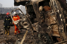 Fears for missing firefighters as China toll climbs