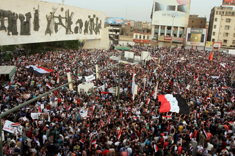 While Prime Minister Haider al-Abbadi felt pressure from these protests, they also served as a major embarrassment, writes Marashi [Reuters]