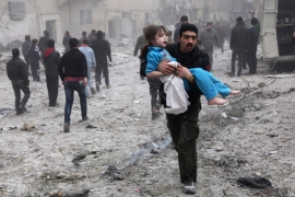 The Syrian conflict, which began as a peaceful protest in 2011, has led to at least 250,000 deaths [EPA]