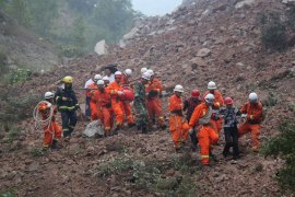 Police, firefighters, mining rescuers and medical staff were sent to the site [Reuters]