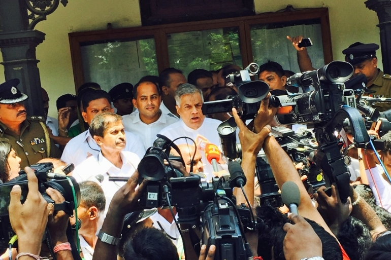 Prime Minister Wickremesinghe said he is confident of consolidating his government following Monday's polls [Maurya Gautam/Al Jazeera]
