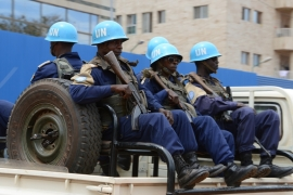 The UN peacekeeping force is under increasing pressure to restored order and peace to Bangui [AFP]
