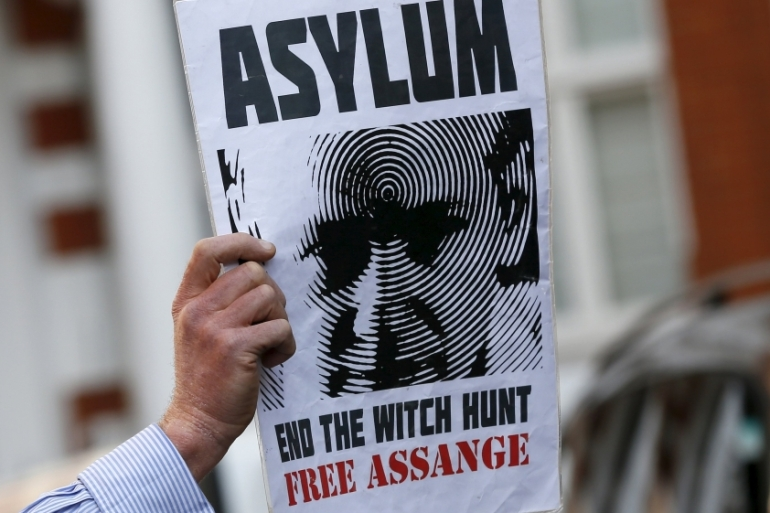 Assange has been living in the Ecuadorian embassy in the UK since 2012 [Reuters]
