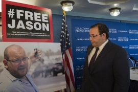 Ali Rezaian, right, has been campaigning for his brother's release [AP]
