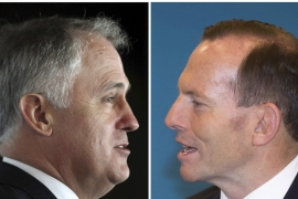 Malcolm Turnbull (left) is to be sworn in as Australia's new prime minister after defeating Tony Abbott [Reuters]