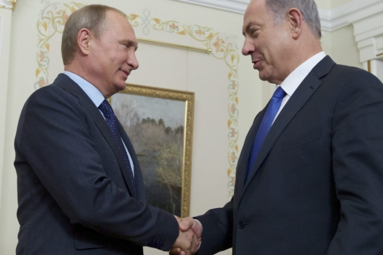 Putin dismissed Netanyahu's claims that Syria is trying to open a 'second front' against Israel [EPA]
