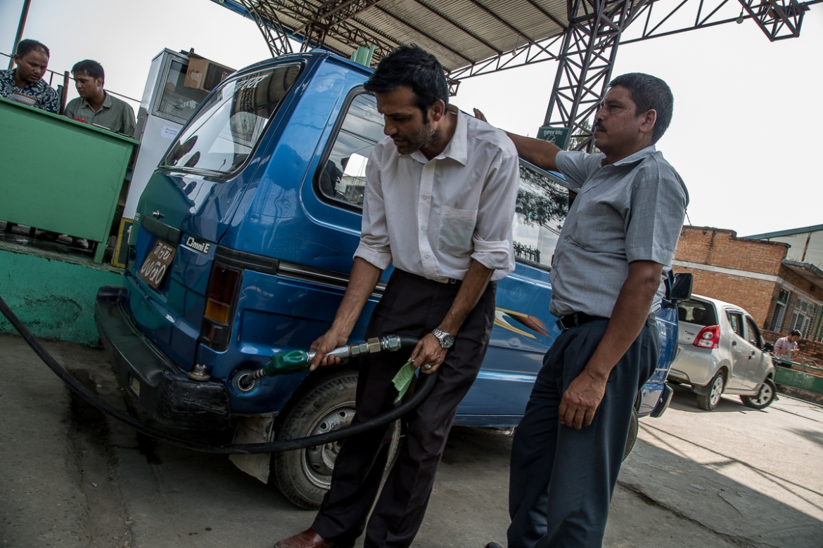 Nepal began rationing fuel on Monday to cope with the shortage. [Omar Havana/Al Jazeera]