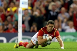 Wales scored eight tries in their win over Uruguay [EPA]