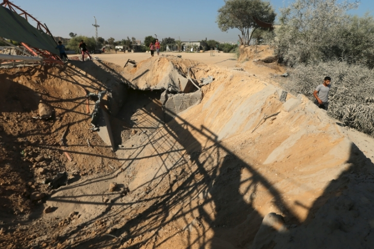 A training camp belonging to Hamas was hit in Israeli air strikes in northern Gaza [Reuters]
