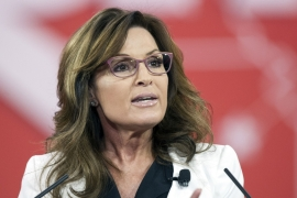 Palin said language was a 'unifying aspect' of a nation [AP]