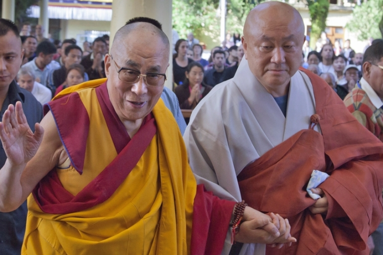 This year, Tibet also marked the 80th birthday of the Dalai Lama [AP]