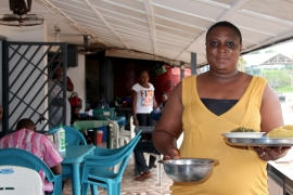 Golda Nse Ekanem is the owner of Appetite Delight, a popular restaurant in the lush Nigerian seaport city of Calabar [Al Jazeera]