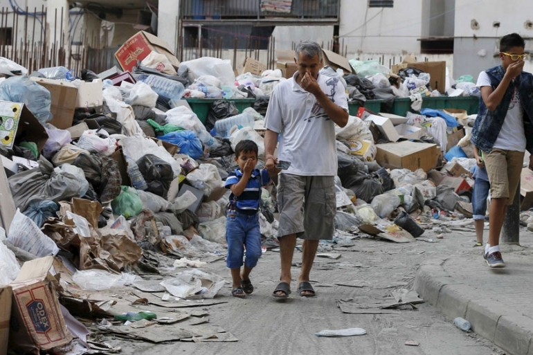 Last July, rubbish began piling up on the streets after the capital's main landfill was closed [AP]