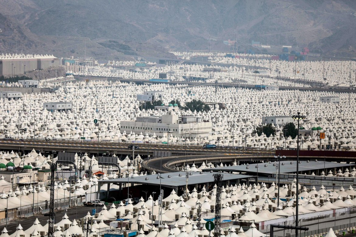 Mina is the world's largest tent city. [Mosa ab Elshamy/AP]