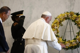 Pope Francis paid tribute to United Nations workers who died in the line of duty [Reuters]