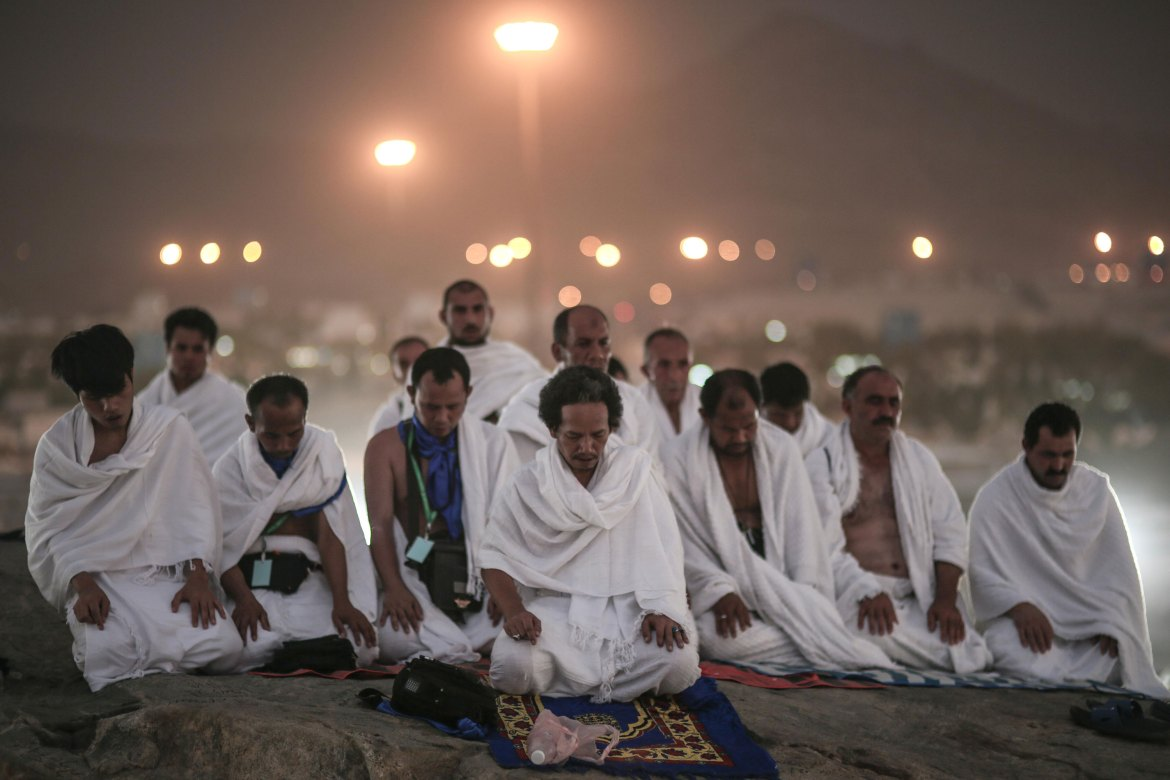 Saudi Arabia has deployed 100,000 security personnel to oversee the annual Islamic Hajj pilgrimage that begins on Tuesday. [Mosa ab Elshamy/AP]