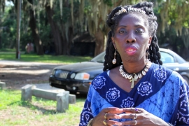 Queen Quet Marquetta Goodwine is the queen mother, chieftess and spokesperson of the the Gullah Geechee Nation in the southeast United States [Allison Griner]