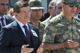 Turkish Prime Minister Ahmet Davutoglu announced the government's intent to 'wipe out' the PKK fighters [Reuters]