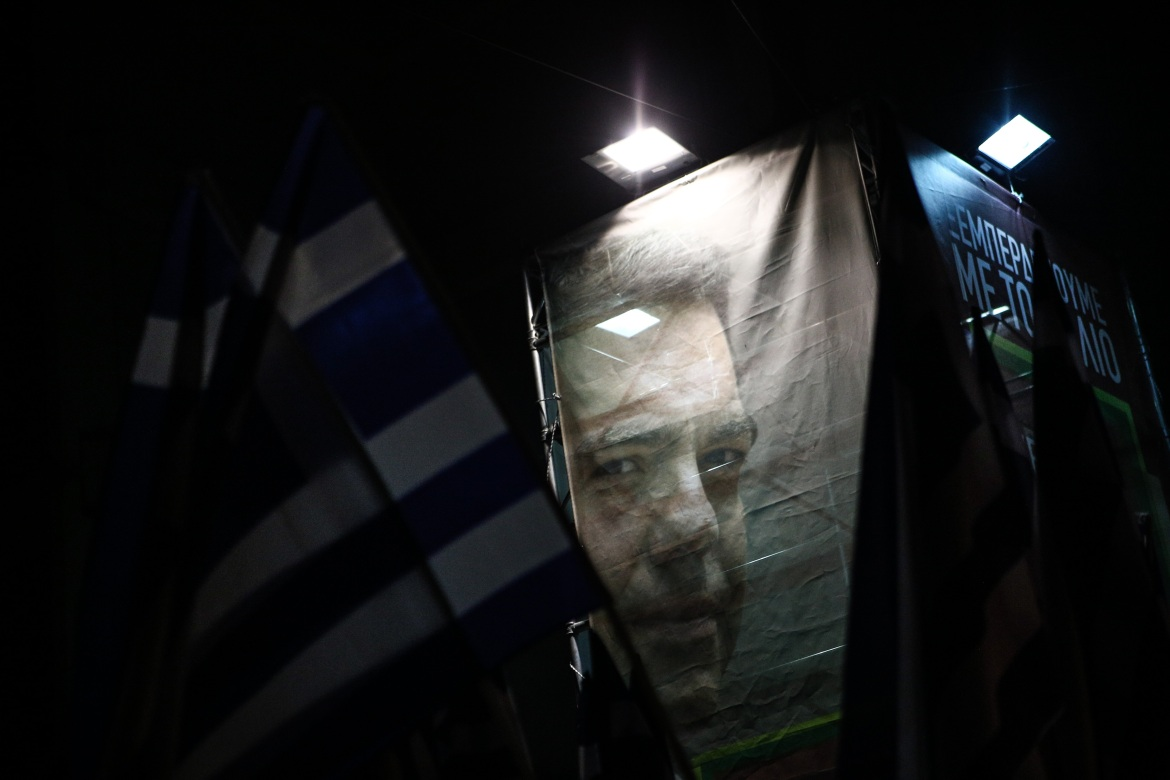 Tsipras declared that his victory belongs to the people and those who dream of a better future. [Nick Paleologos/SOOC]