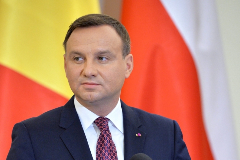 Duda's comments have been compared to Nazi rhetoric by Polish politicians and sections of the media [EPA]