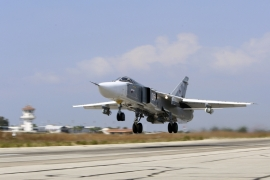 Russia last week began bombing what it says are Islamic State in Iraq and the Levant targets in the Syria [AP]