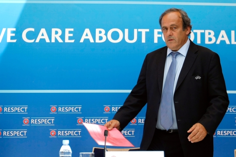 UEFA chief Platini has been provisionally suspended for 90 days [AP]