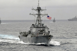 The US vowed to repeat the sail-by at the islands in the South China Sea claimed by China [Reuters]