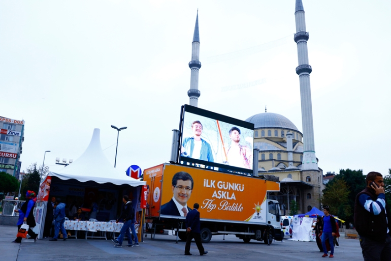 Bagcilar, a conservative working-class neighbourhood, largely reflects the voter base of the AK party [Huseyin Narin/Al Jazeera]
